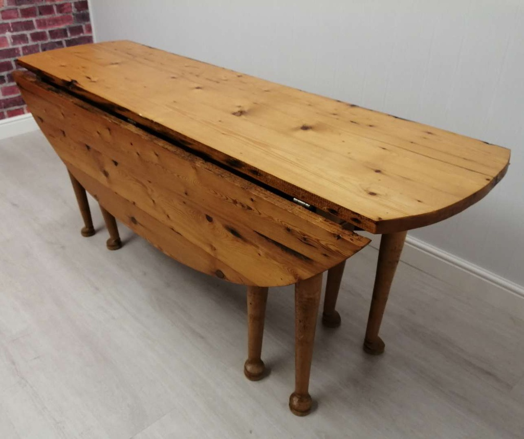 Lovely Old Irish Pine Drop Leaf Table