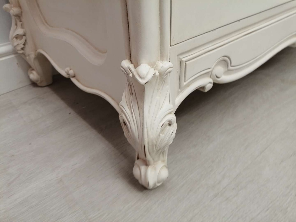 White Distressed French Style Sideboard