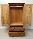 Small Double Pine Wardrobe with Drawers