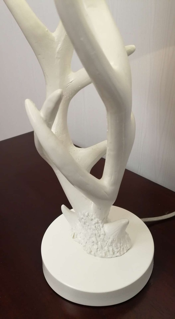 Small White Antlers Lamp