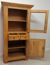 French Oak Part Glazed Display Unit