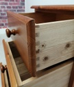 Pine Three Drawer Bedside Chest