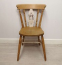 4 x White Washed Fiddle Back Dining Chairs