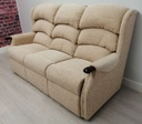 Cream High Back Three Seater Sofa