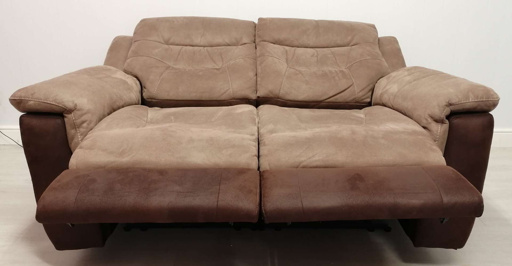 Brown Electric Recliner Sofa Two Seater