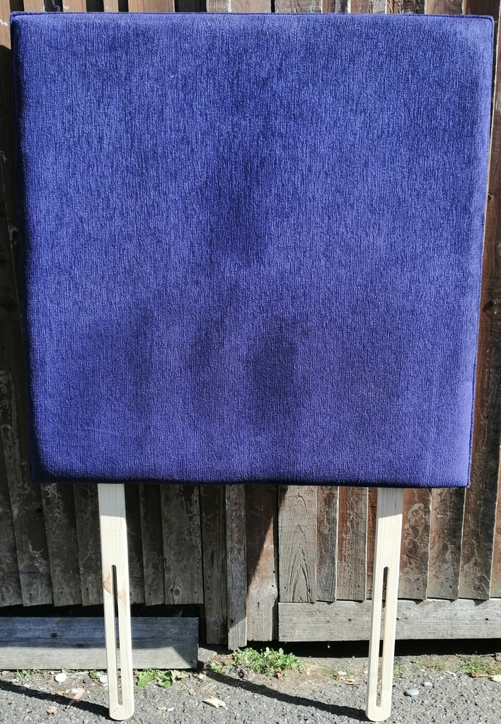 3ft Tall Blue Headboard