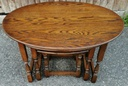 Light Oak 'Old Charm' Oval Nest of Three Tables