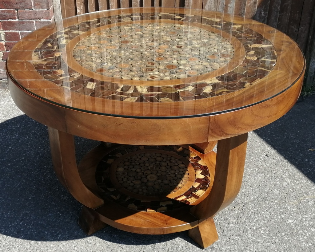 4ft Solid Wood Round Table & 4 Chairs