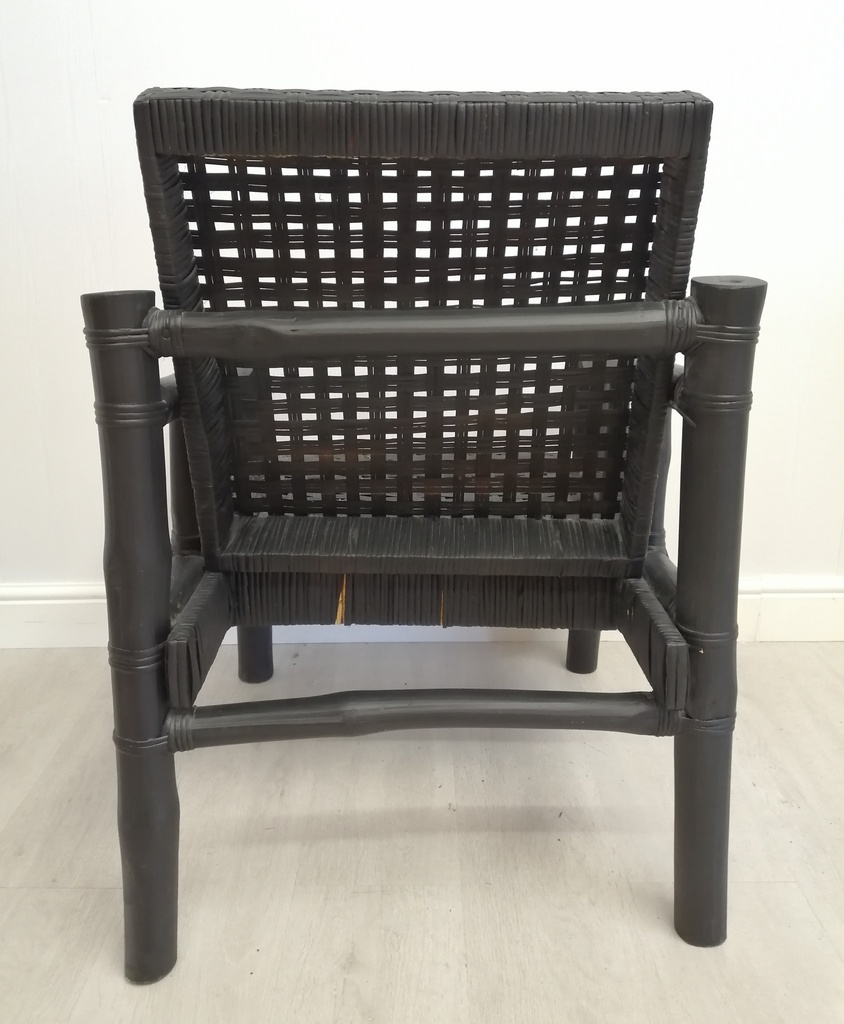 Painted Bamboo Armchair