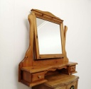 Pine Dressing Table Mirror with Small Drawers