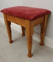 Pine & Pink Dressing Table Stool