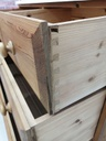 White Top Low Pine Chest of Four Drawers