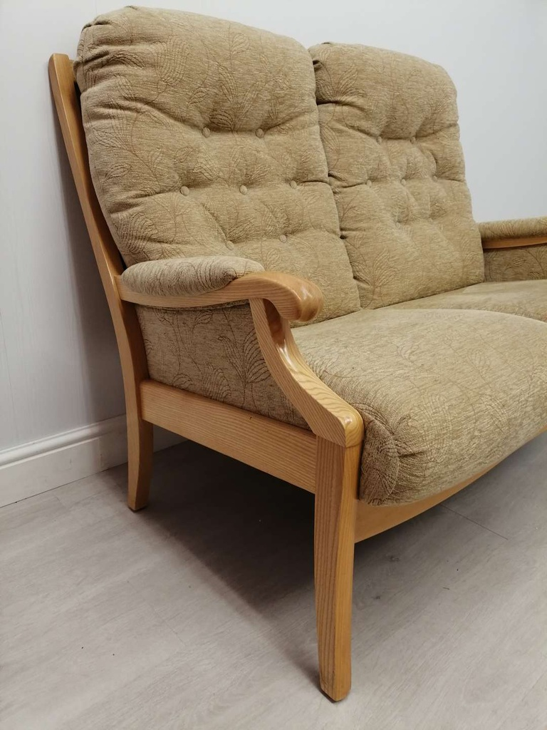 Classic High Back Two Seater Sofa