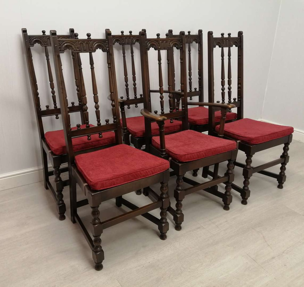 ERCOL Dining Table & Six Chairs