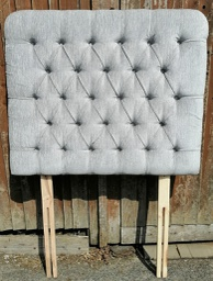 [HF4040] 3ft Grey Ex-Show House Button Back Headboard
